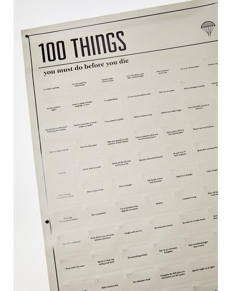 100 Must Do Bucket List Poster