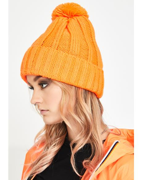 Juicy Chill Mode Pom Pom Beanie