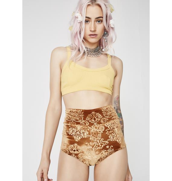 TEMPLE RO Gold Sophini Shorts