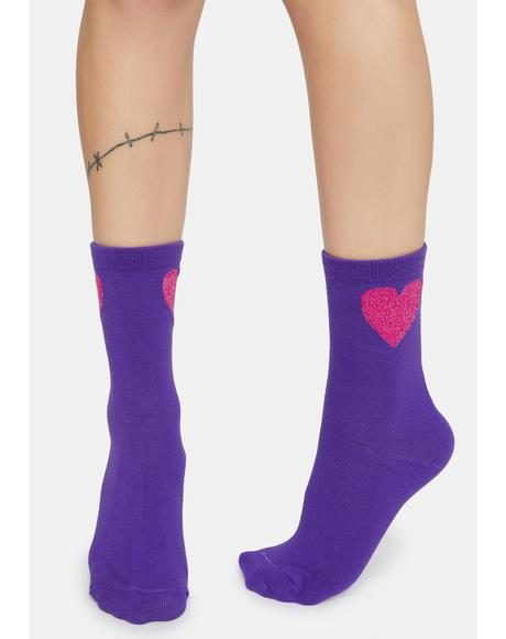 Warm Wishes Heart Crew Socks