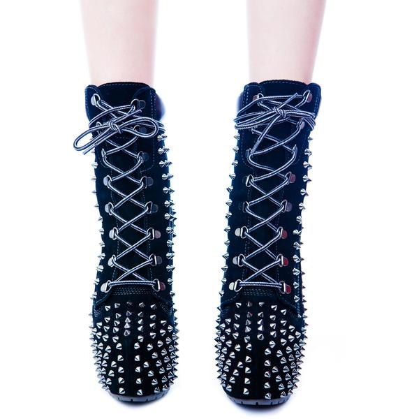 Studded Timber! Jo Platform Boot