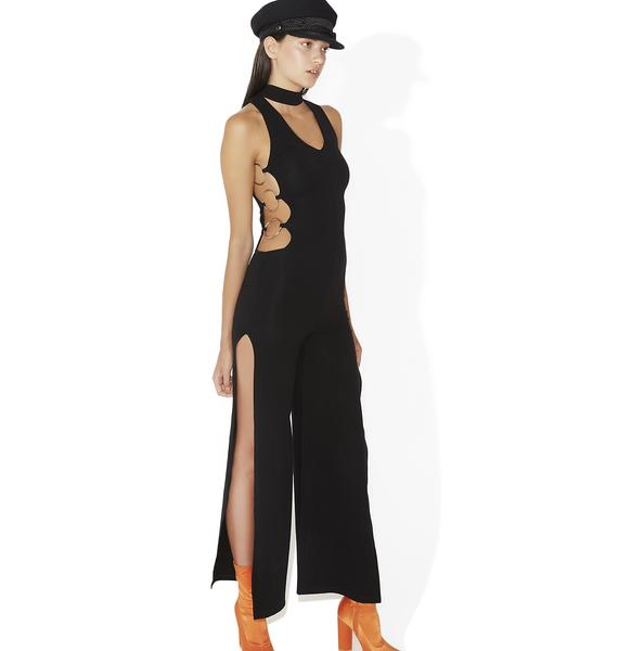 Ladies Night Cut-Out Jumpsuit