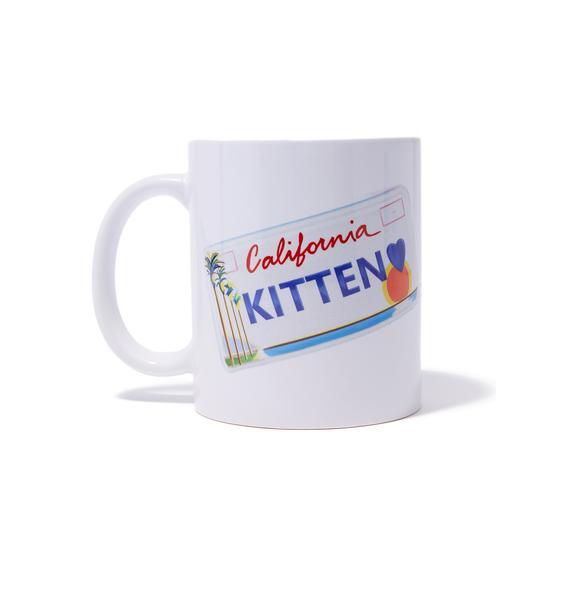 Laser Kitten Kitten Plate Mug