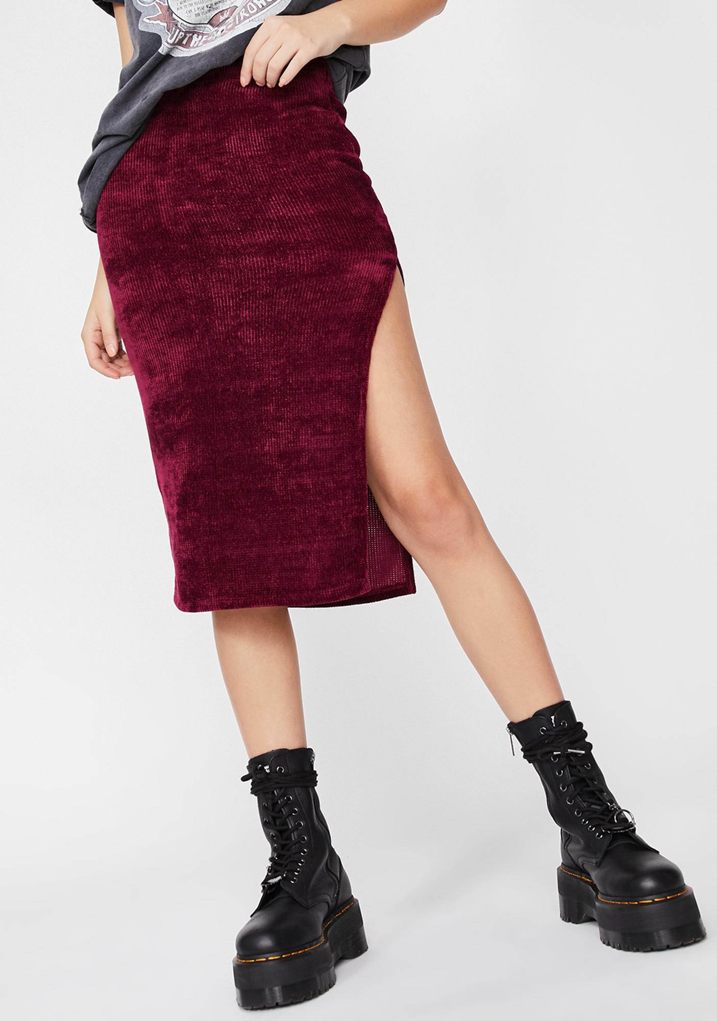 Devil Just Homies Midi Skirt