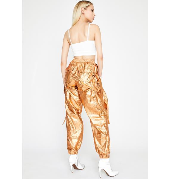 Golden In My Element Metallic Pants