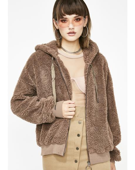 Mocha Cozy Szn Teddy Jacket