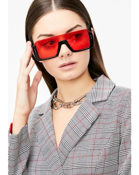 Spicy Cut Off Oversized Sunglasses