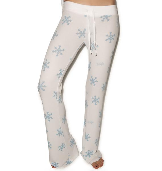 Wildfox Couture Snowflake Polar Pajama Set
