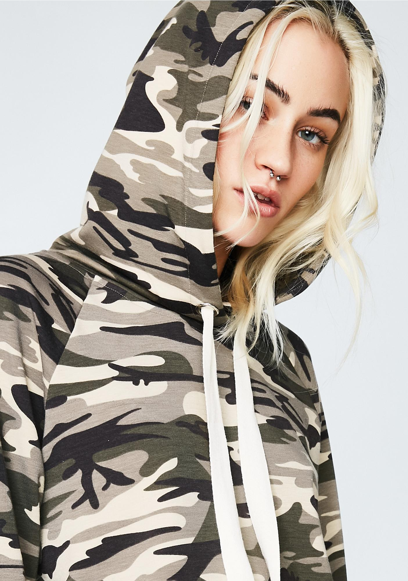 Win The Battle Cropped Hoodie