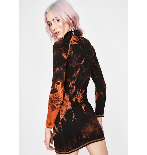 Current Mood Fallen Phoenix Bodycon Dress