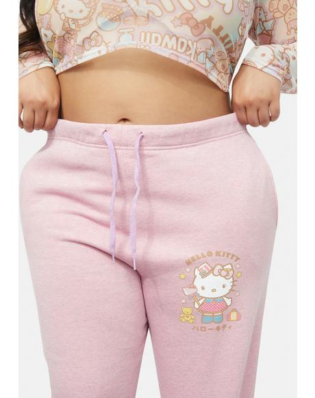 Curve Hello Kitty Graphic Logo Joggers