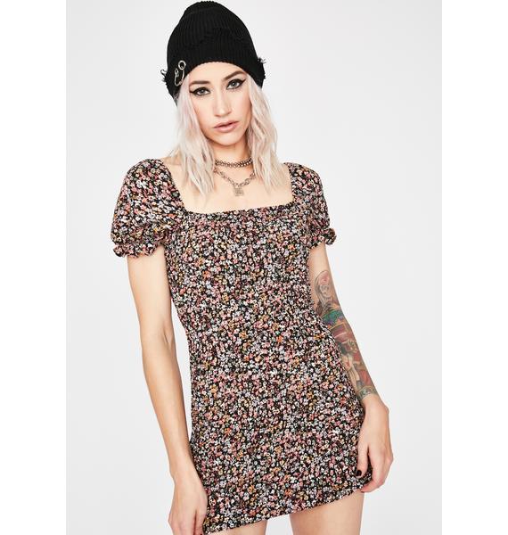 Grunge Garden Floral Dress