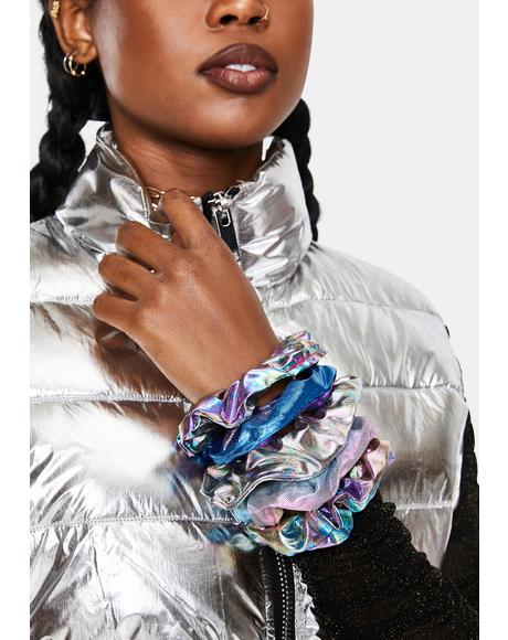 Pixie Prisms Metallic Scrunchies Set