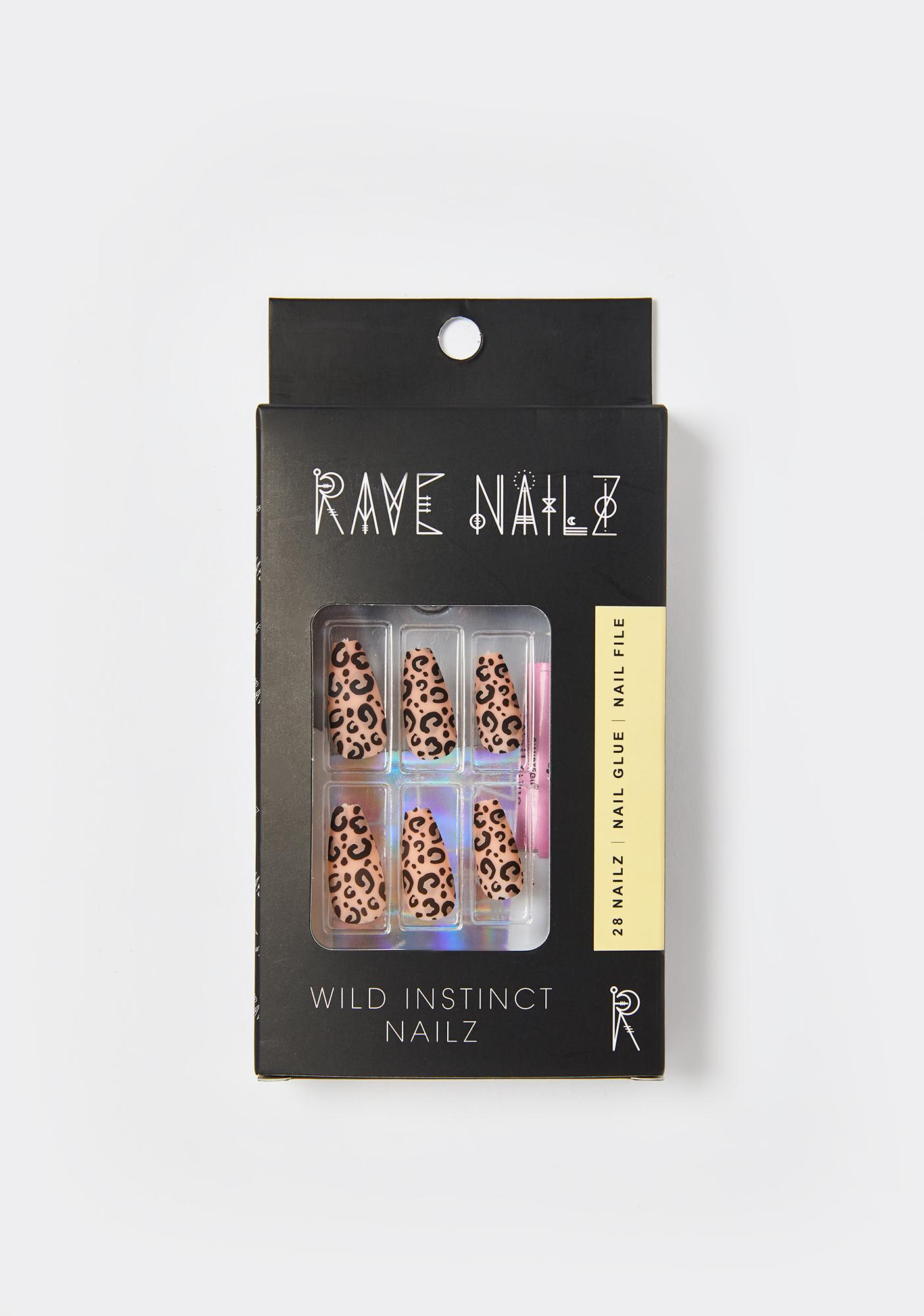 Rave Nailz Wild Instinct Acrylic Nails