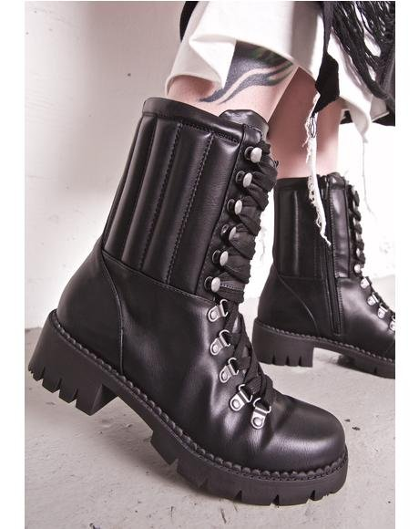 Abbey Lace-Up Combat Boots