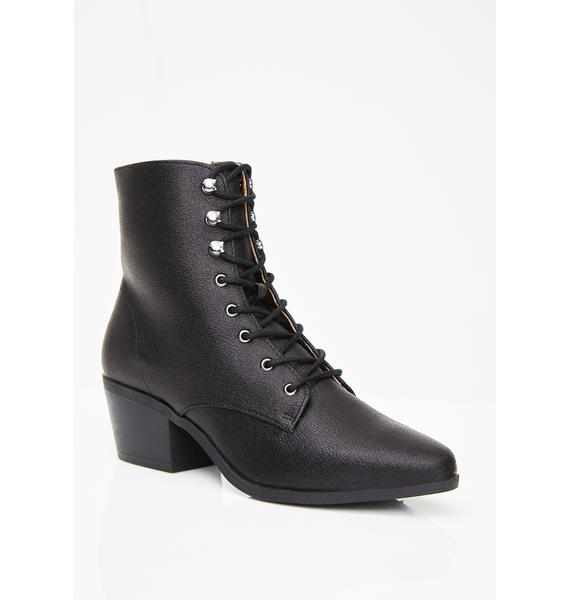 Spell Caster Lace-Up Boots