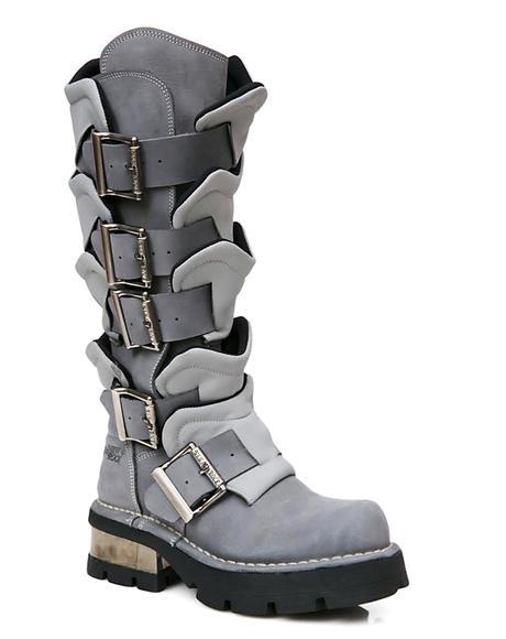 Valhalla Armor Buckle Boots