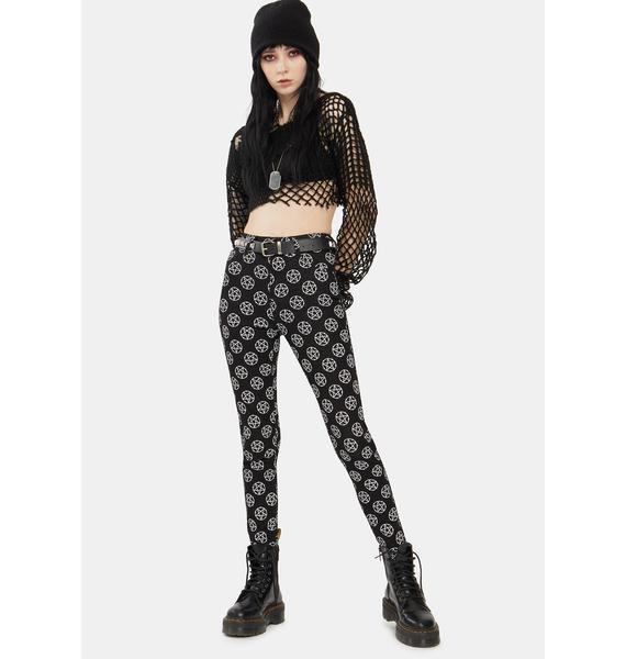 Too Fast Pentagram Skinny Jeans
