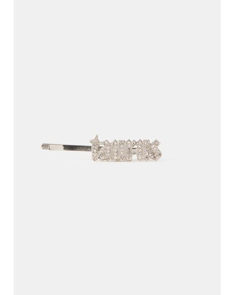 I Am Who I Am Rhinestone Hair Clip