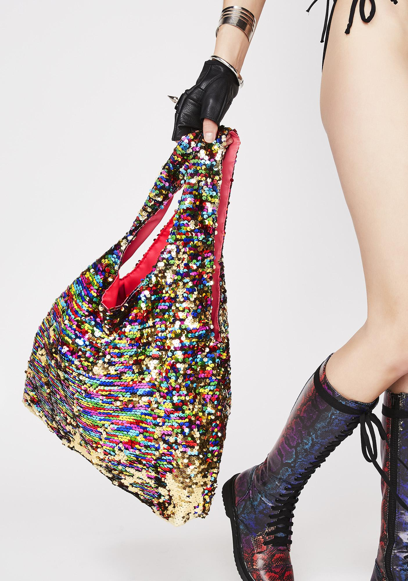 Current Mood Shimmer All Day Sequin Shopper