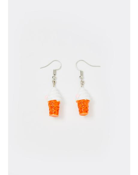 Vanilla Soft Serve Drop Earrings