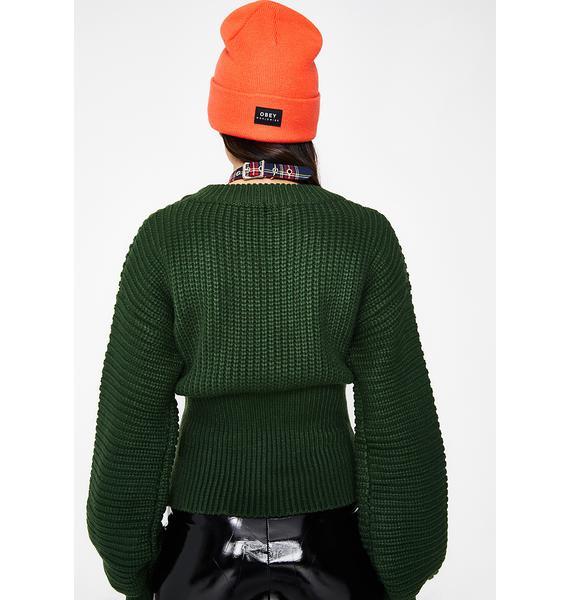 Tie Me Up Corset Sweater