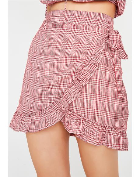 Day Date Plaid Skirt