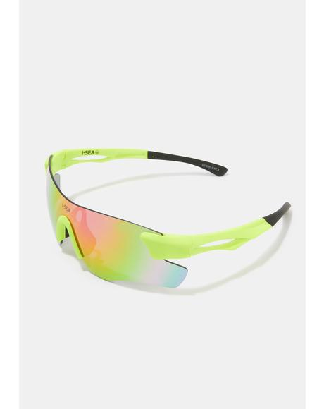 Cosmic Green Rain Sunglasses