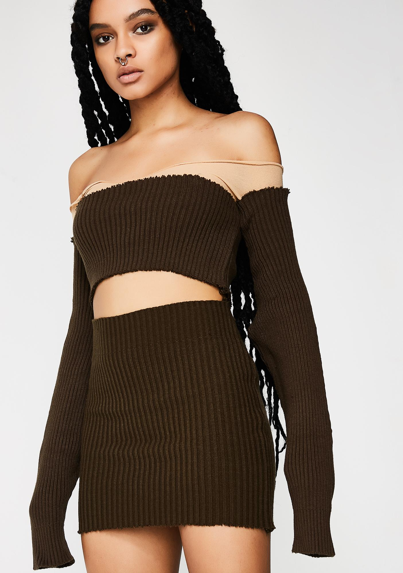 Plugged NYC Knit Skirt