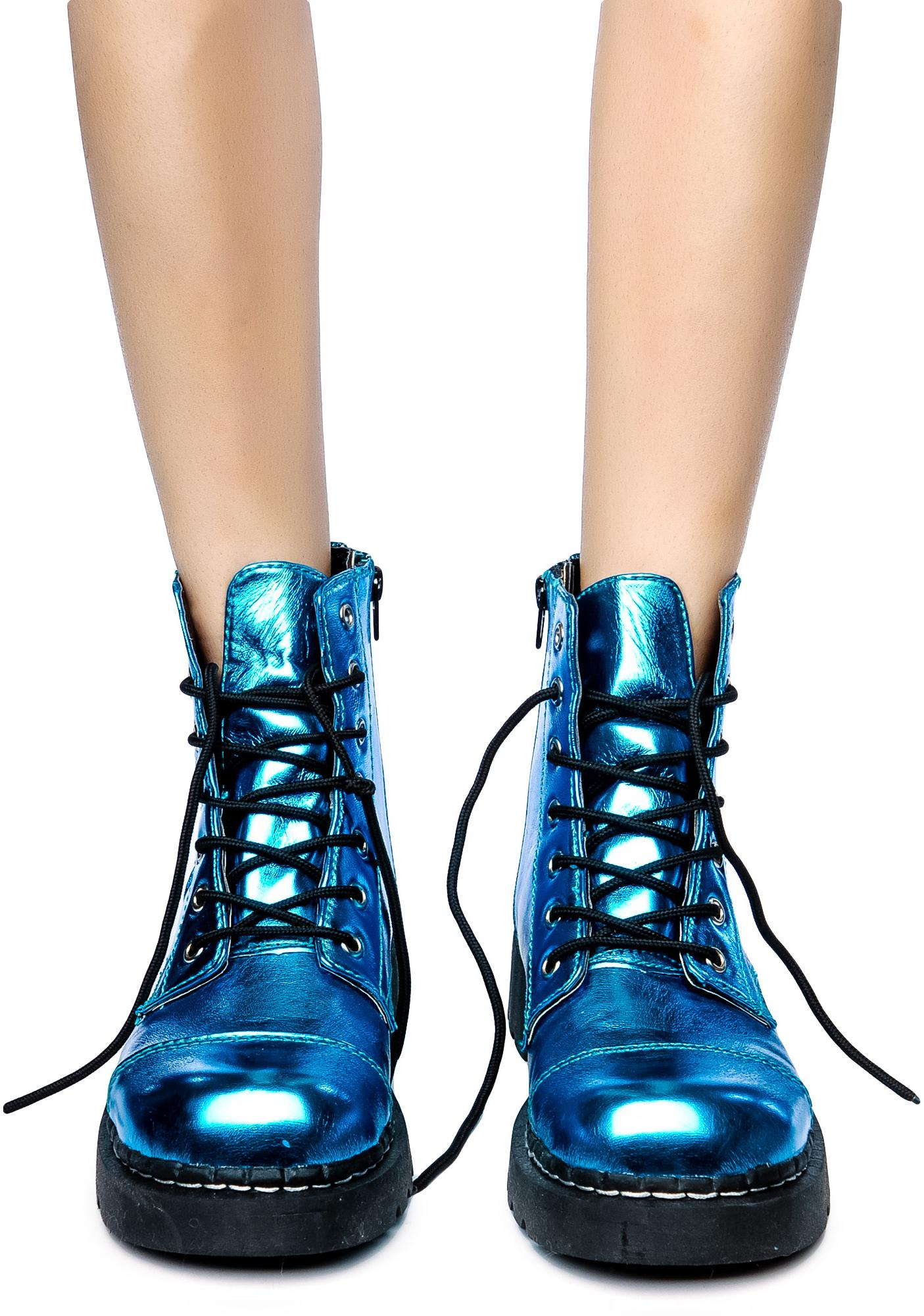T.U.K. Metallic 7 Eye Boot