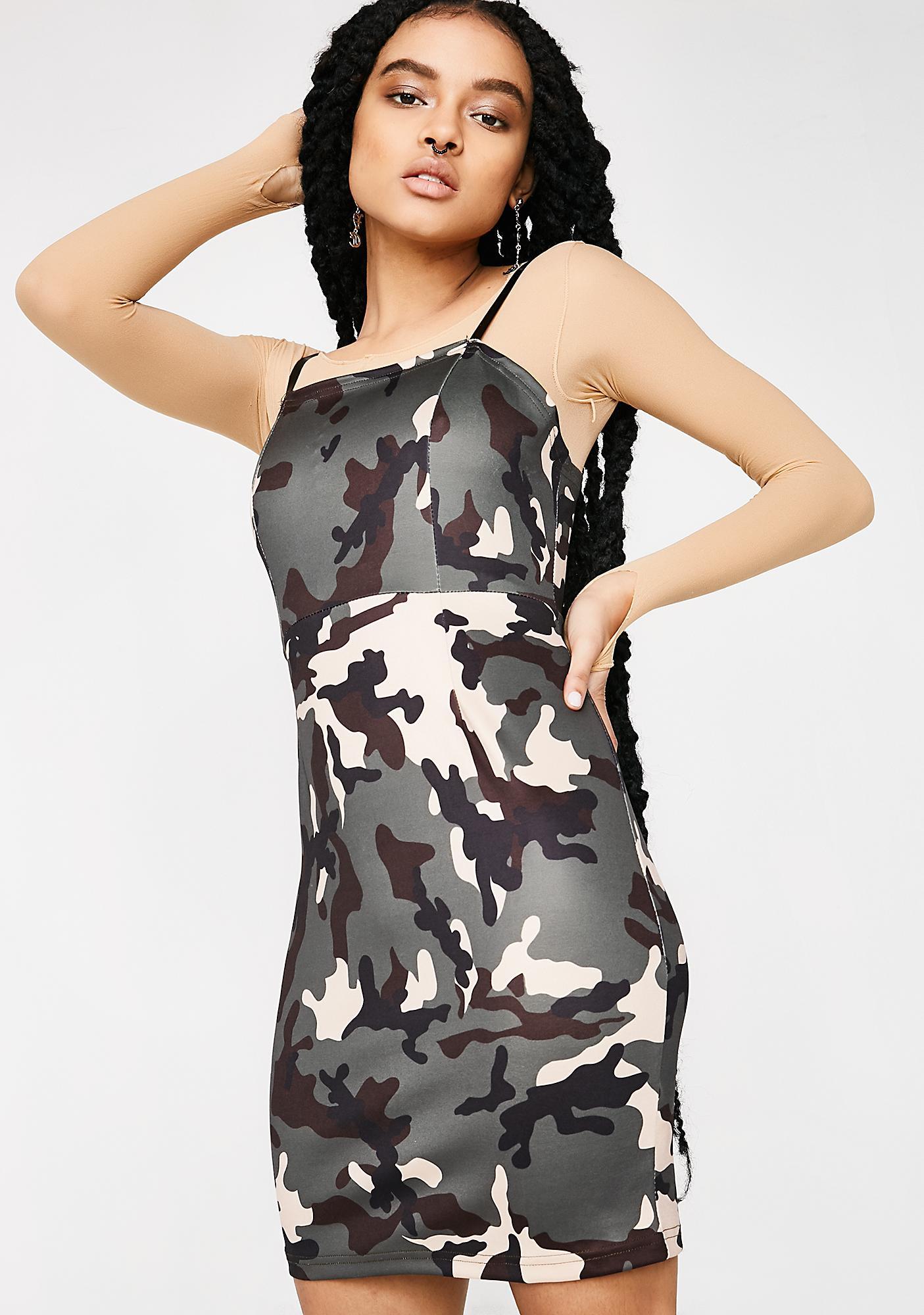 Poster Grl Sassy Squadron Camo Dress