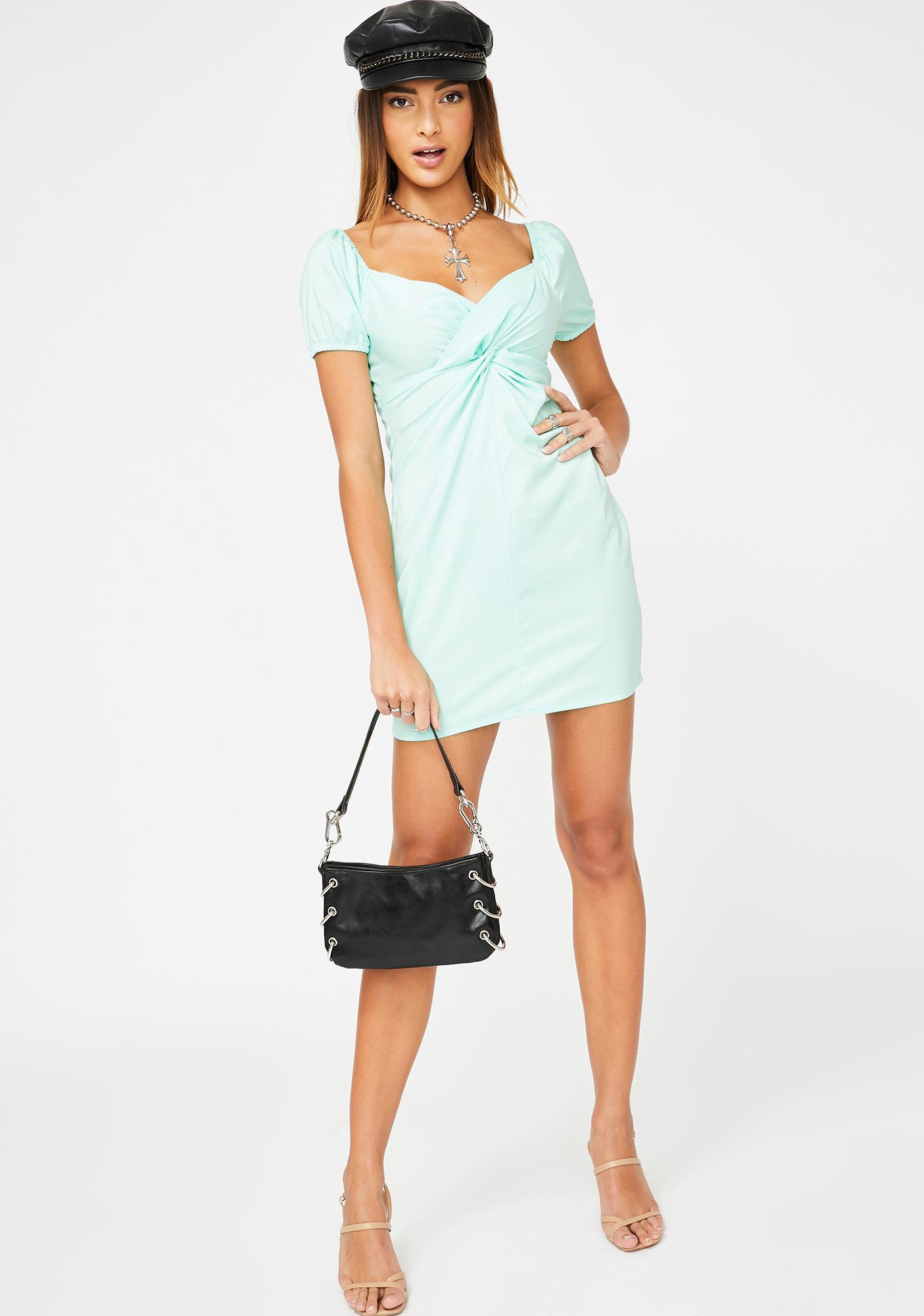 ZEMETA Mint Swirl Dress