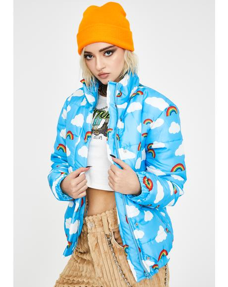 Rainbow N' Cloud Puffer Jacket