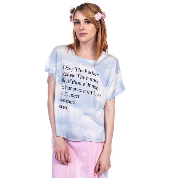 Wildfox Couture Deny Thy Father Jagged Edge Tee