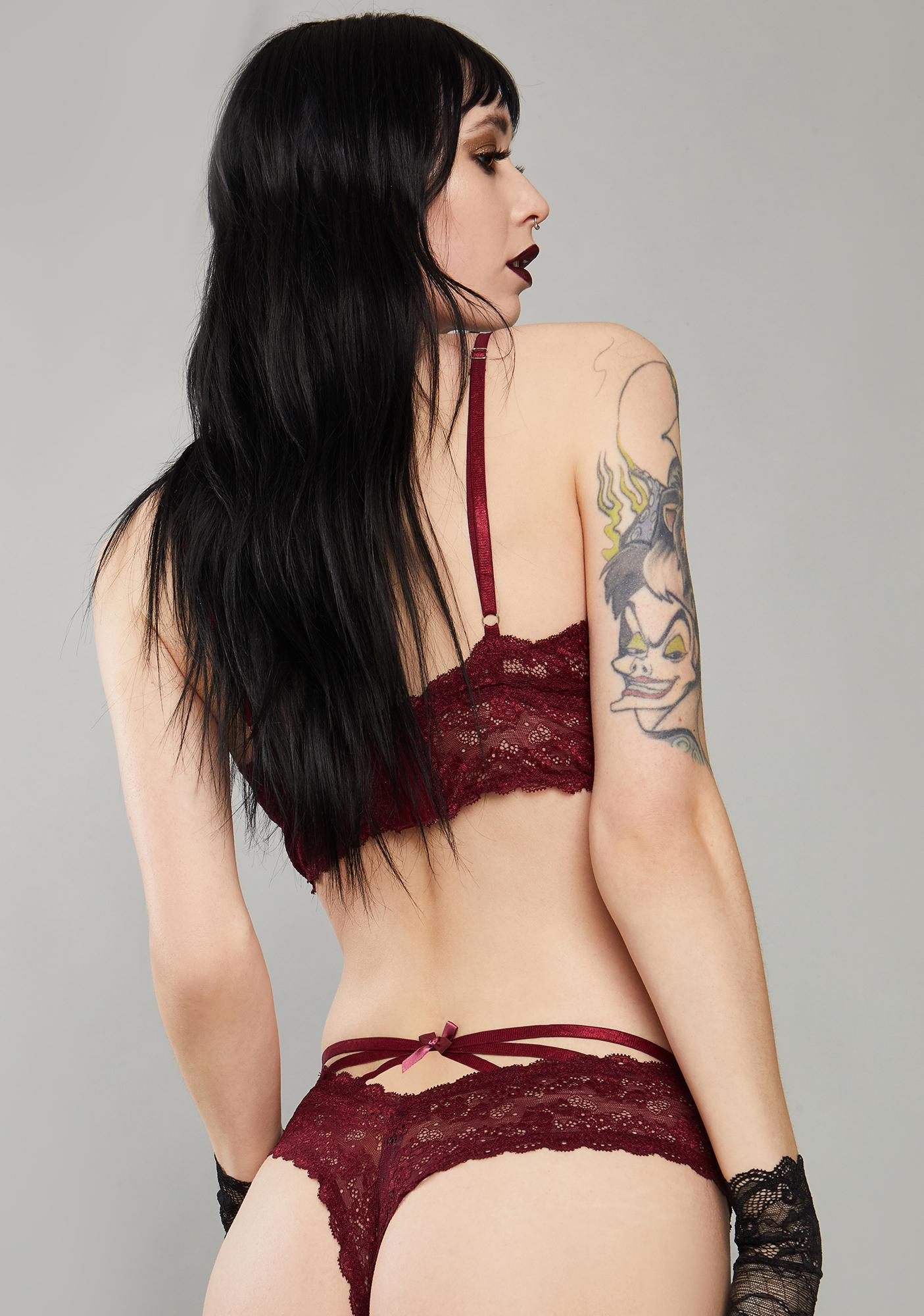 Widow Wine Kiss Of Midnight Lace Panties