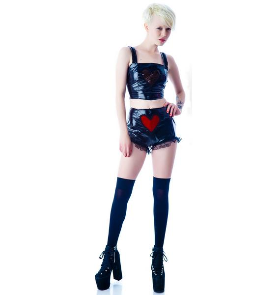 Velvet Heart Vinyl Panty Shorts
