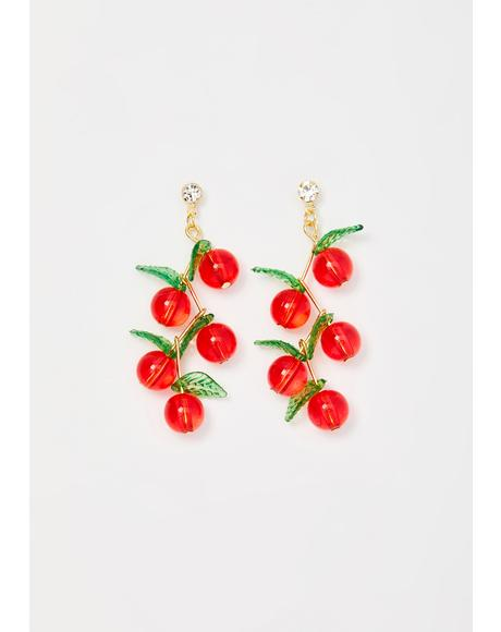 Cherry Poppin' Drop Earrings
