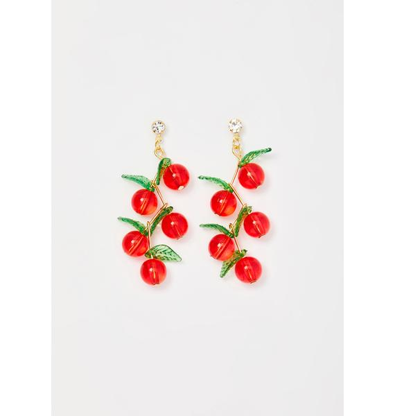 Cherry Poppin' Drop Earrings