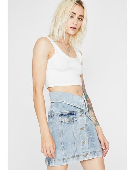 Photo Bomb Denim Skirt