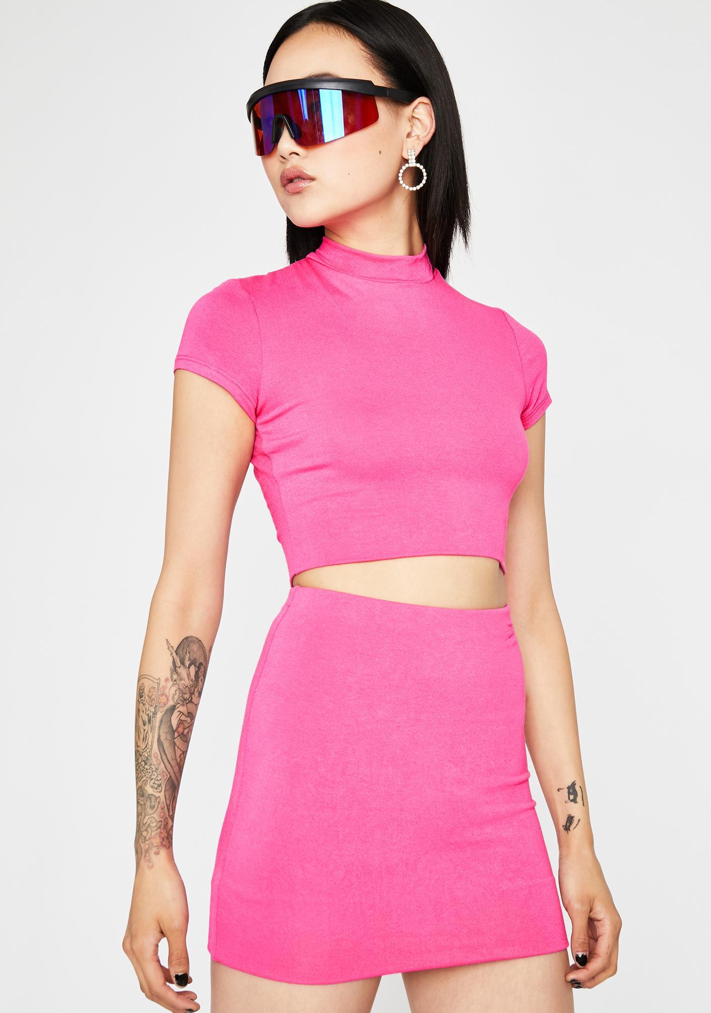 Like A Popstar Skirt Set