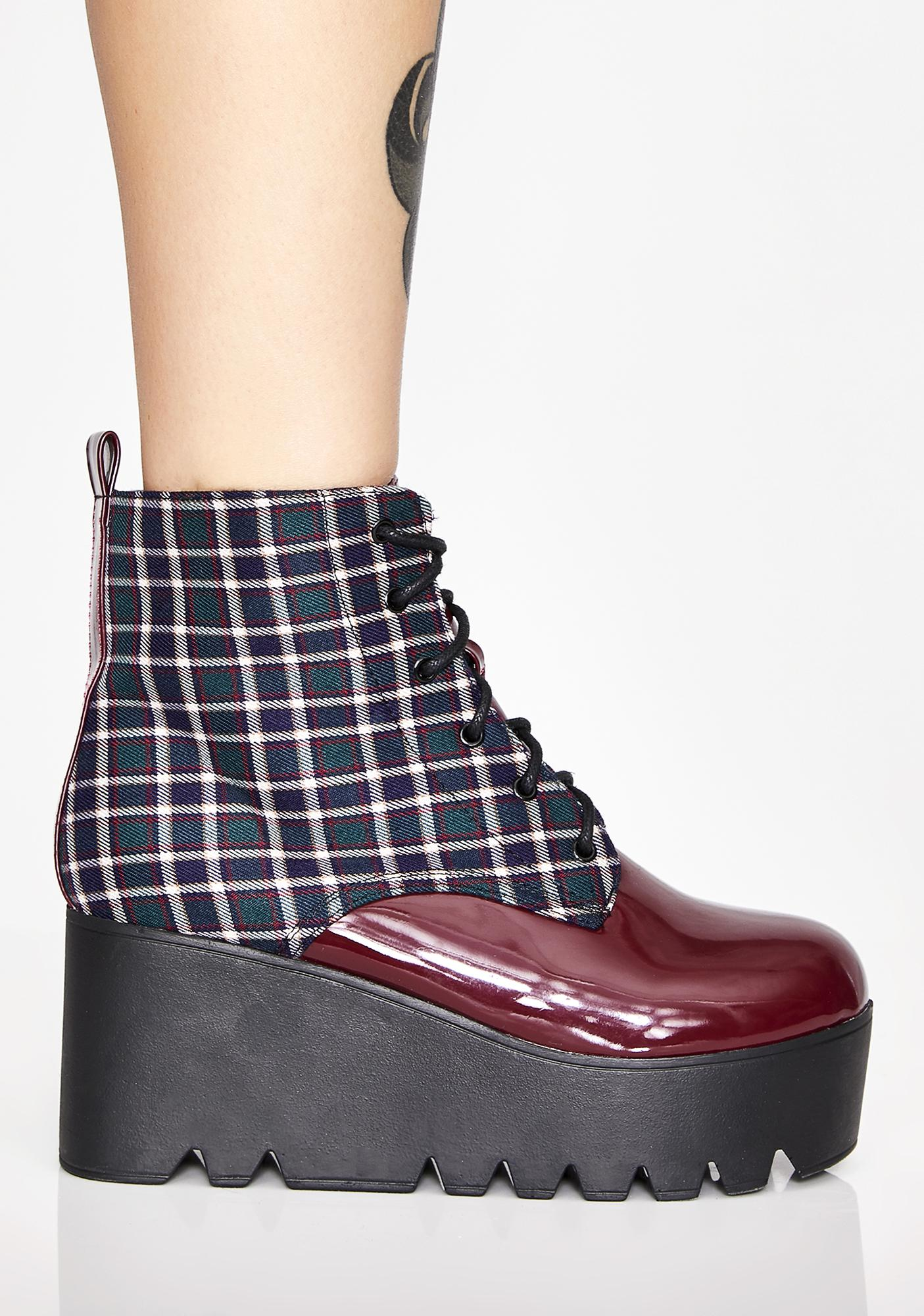 On The Grind Wedge Booties