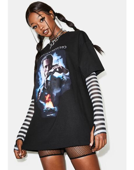 X American Psycho Poster Graphic Tee