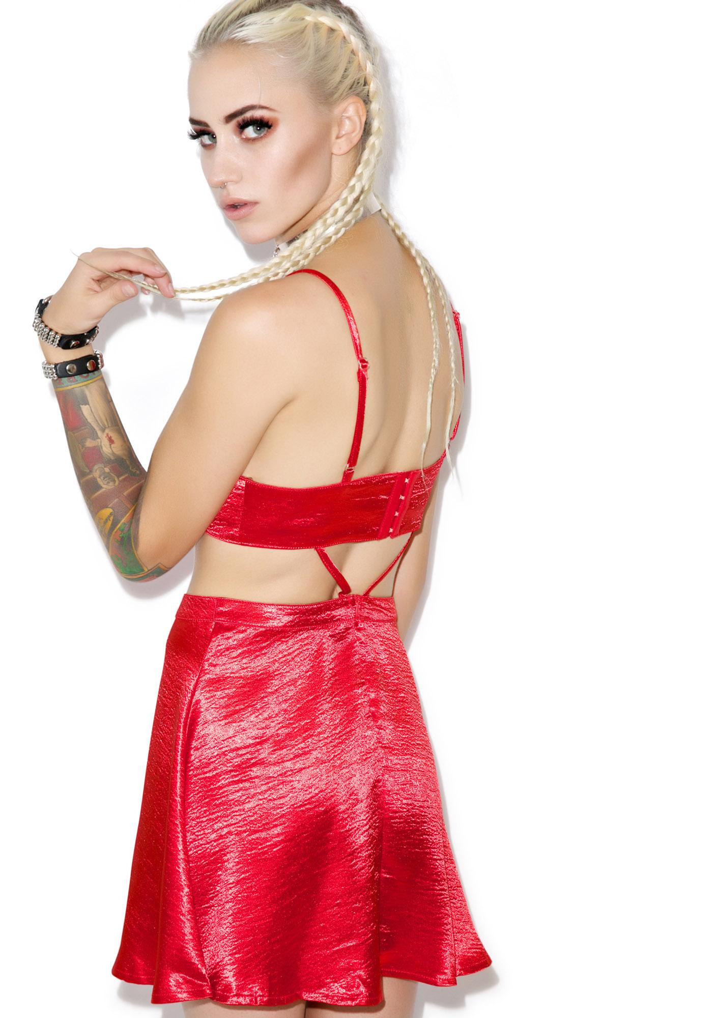 Party Hard Cutout Satin Dress