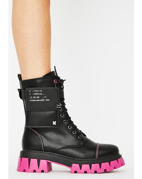 Purple Banshee Combat Boots