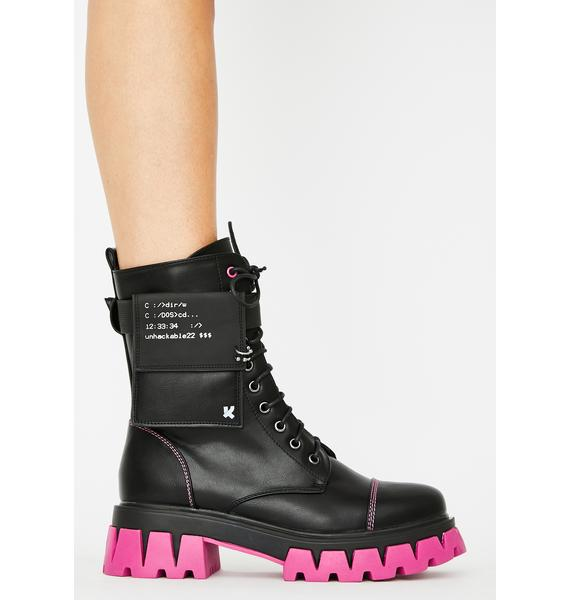 Koi Footwear Purple Banshee Combat Boots