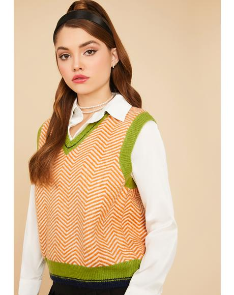Ginger Gallery Gal Herringbone Sweater Vest