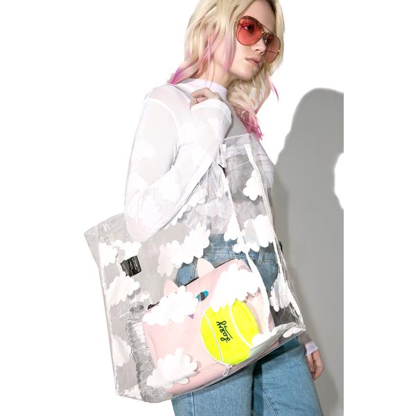 Lazy Oaf Clear Cloud Tote