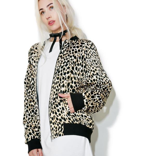Motel Cheetah Bomber Jacket