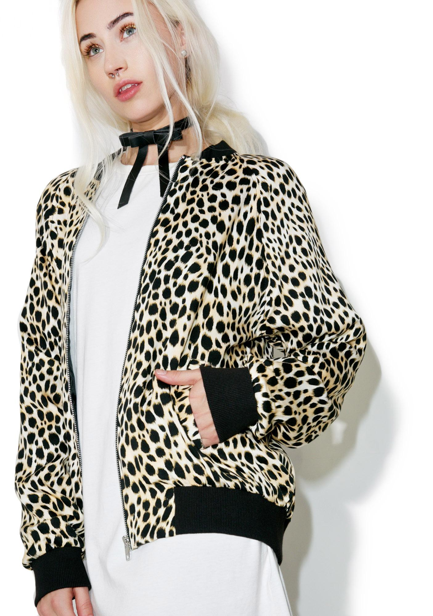 Motel Cheetah Bomber Jacket