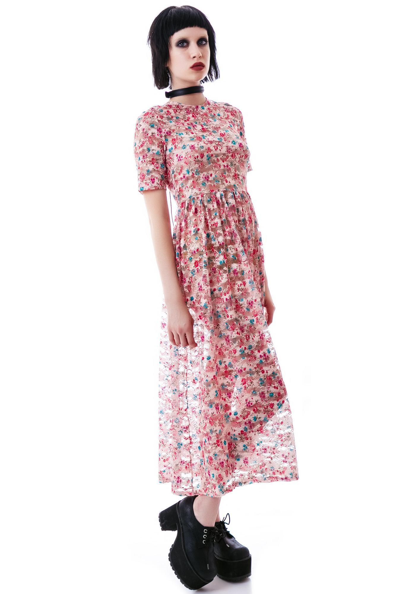 Laura Ashley Lace Up Maxi Dress